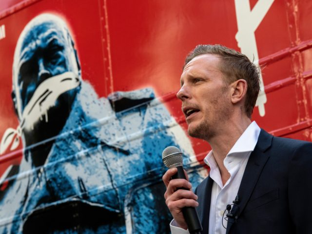 Exclusive Video: Leftist Screams 'Racist!' at Laurence Fox as He Campaigns Against Sadiq Khan
