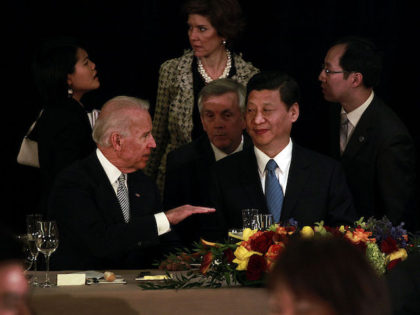 LOS ANGELES, CA--February 17, 2012--U.S. Vice President Joe Biden and Chinese Vice President Xi Jinping participated in a luncheon hosted by Mayor Antonio Villaraigosa, at the J.W. Marriot at L.A. Live, in downtown Los Angeles, Feb. 16, 2012. (Jay L. Clendenin/Los Angeles Times)