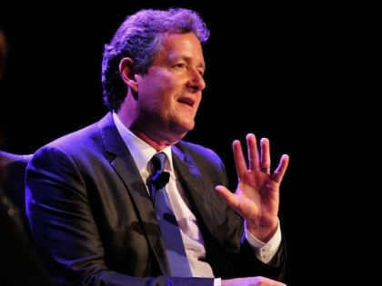 BEVERLY HILLS, CA - MAY 04: Television Personality Piers Morgan on stage at BritWeek 2012's 'An Evening With Piers Morgan, In Conversation With Jackie Collins' benefiting Children's Hospital Los Angeles at the Beverly Wilshire Four Seasons Hotel on May 4, 2012 in Beverly Hills, California. (Photo by Frazer Harrison/Getty Images)