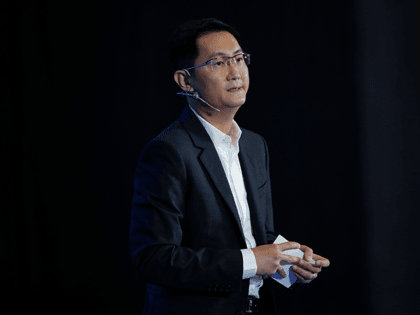 Ma Huateng, chairman and chief executive officer of Tencent Holdings Ltd. speaks during the 2017 China International Big Data Industry Expo at Guiyang International Eco-Conference Center on May 28, 2017 in Guiyang, China. Tencent (www.QQ.com) is the largest Chinese web portal in China. (Photo by Lintao Zhang/Getty Images)3