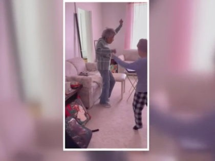 Julia Fulkerson, a 102-year-old great-grandmother from Arizona was spotted joining her six-year-old great-grandson's remote physical education class.