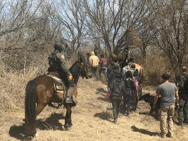 Laredo Sector Horse Patrol Unit agents apprehended migrants near the Texas border with Mexico. (Photo: U.S. Border Patrol/Laredo Sector)