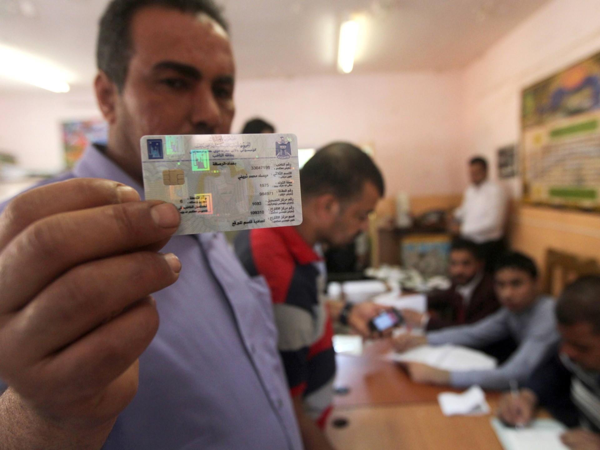 Iraq voter ID (Ahmad Al-Rubaye / AFP / Getty)