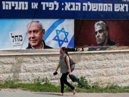 Israeli election poster (Ahmad Gharabli / AFP / Getty)