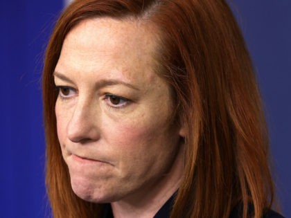 White House Press Secretary Jen Psaki pauses during a daily press briefing at the James Brady Press Briefing Room of the White House March 10, 2021 in Washington, DC. Psaki held a briefing to answer questions from members of the press. (Alex Wong/Getty Images)
