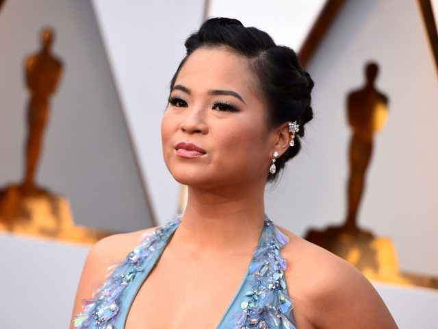 FILE - In this March 4, 2018, file photo, Kelly Marie Tran arrives at the Oscars, at the Dolby Theatre in Los Angeles. Tran is breaking her silence about online harassment months after deleting her Instagram account. In an essay published Tuesday, Aug. 21, in The New York Times, the …