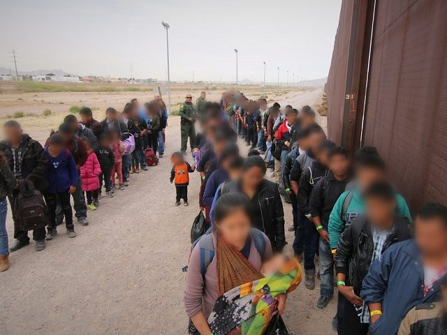 Border Patrol Agents (BPA) assigned to El Paso Sector, El Paso Station (EPT/EPS) apprehended a group of approximately 127 illegal aliens. (Photo: U.S. Customs and Border Protection)