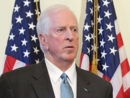 Rep. Mike Thompson (D-CA) holds a news conference about new legislation to enforce background checks for gun purchases in the Canon House Office Building on Capitol Hill March 4, 2015 in Washington, DC. (Chip Somodevilla/Getty Images)