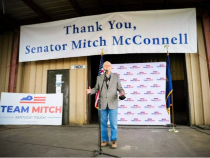 Senate Majority Leader Mitch McConnell defeats Amy McGrath to keep his Senate seat. Jon Cherry/Getty Images