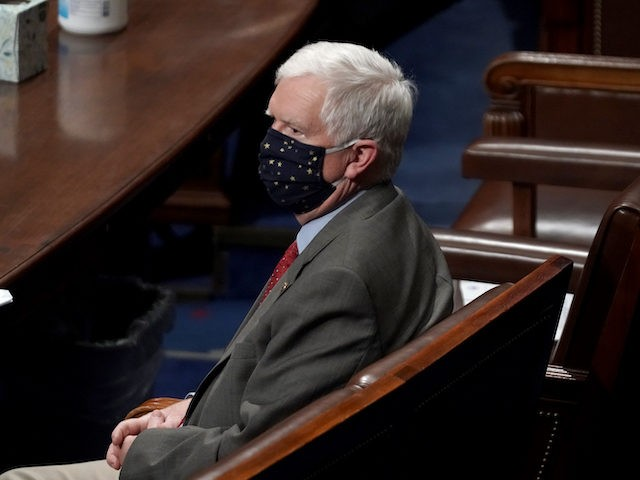 Rep. Mo Brooks (R-Ala.) is seen as the House debates the certification of Arizona's Electoral College votes in Washington, DC, January 6, 2021. (Greg Nash/AFP via Getty Images)