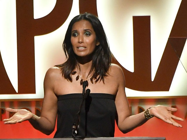 BEVERLY HILLS, CA - JANUARY 19: Padma Lakshmi speaks onstage during the 30th annual Producers Guild Awards at The Beverly Hilton Hotel on January 19, 2019 in Beverly Hills, California. (Photo by Frazer Harrison/Getty Images)