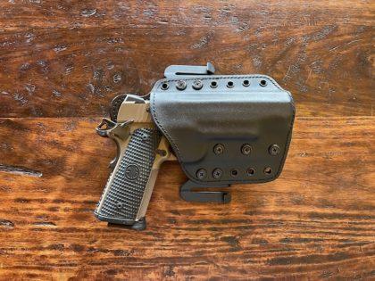 Sig Sauer Emperor Scorpion in a Tucker Gun Leather OWB holster (AWR Hawkins)