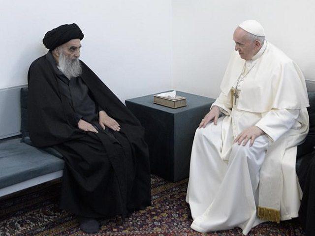 Pope Francis with Ayatollah al-Sistani