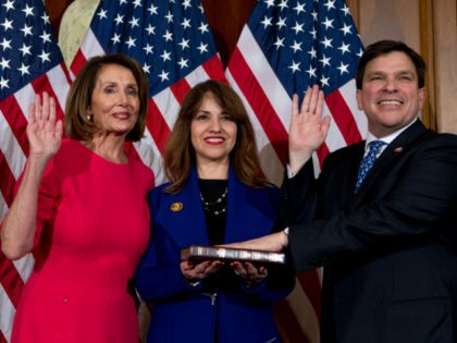 Rep. Gonzalez Sworn in by Pelosi