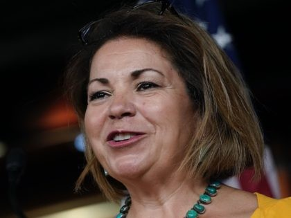 WASHINGTON, DC - JULY 29: U.S. Rep. Linda Sanchez (D-CA) speaks during a news conference about the Child Care Is Essential Act and the Child Care For Economic Recovery Act at the U.S. Capitol on July 29, 2020 in Washington, DC. The House is scheduled to vote later Wednesday afternoon …