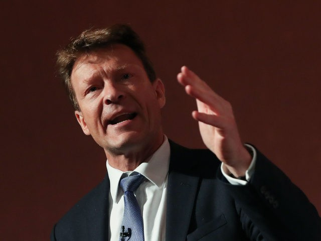 Vice-chairman of the pro-Brexit Leave Means Leave group, Richard Tice, speaks at a political rally organised by Leave Means Leave in central London on December 14, 2018. - The Leave Means Leave group, supported by political figures like ERG chairman Jacob Rees-Mogg and former UKIP leader Nigel Farage, held a …