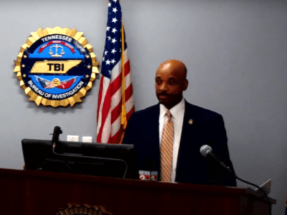 A Tennesee Bureau of Investigation officer speaks during a March 2, 2021 press conference about Operation Volunteer Strong. (TBI Media/Youtube)