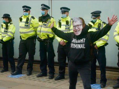 Lockdown Protest, London March 20, 2021. Kurt Zindulka, Breitbart News
