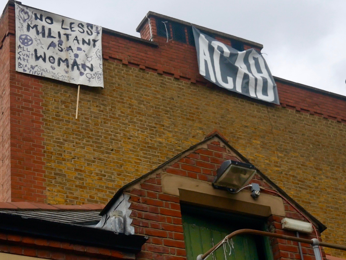 Antifa occupies an abandoned police station on Cavendish Road in Clapham in London, March 25, 2021. Kurt Zindulka, Breitbart News