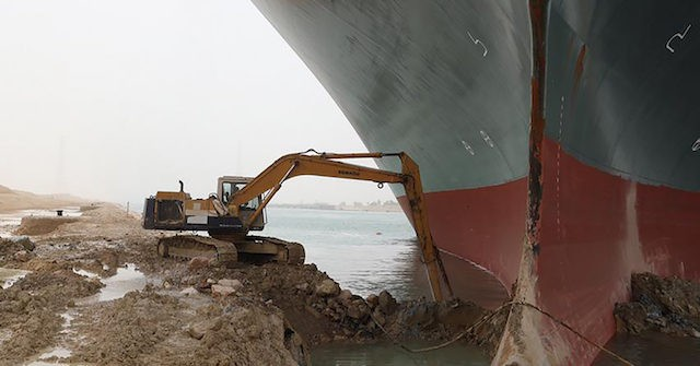 Efforts Continue To Refloat Ever Given Ship Blocking The Suez Canal