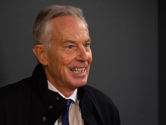 DAVOS, SWITZERLAND - JANUARY 21: Tony Blair, Former Prime Ministe attends the Global Citizen Forum - Beyond Boundaries Event at the annual 2020 World Economic Forum (WEF) on January 21, 2020 in Davos, Switzerland. (Photo by Remy Steiner/Getty Images for Global Citizen Forum)