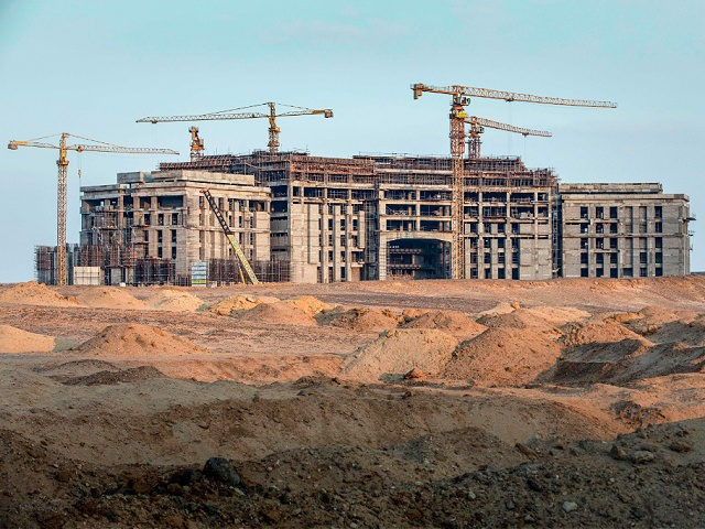 Construction of the future parliament building in the new administrative capital, some 50 km east of the capital Cairo, on March 7, 2019. (Photo by PEDRO COSTA GOMES / AFP) (Photo by PEDRO COSTA GOMES/AFP via Getty Images)