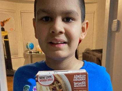 Boy with autism receives his favorite waffles. (Jenna Roman)