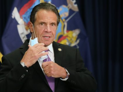 NEW YORK, NEW YORK - SEPTEMBER 08: New York state Gov. Andrew Cuomo speaks at a news conference on September 08, 2020 in New York City. Cuomo, though easing restrictions on casinos and malls throughout the state, has declined to do so for indoor dining in restaurants in New York …