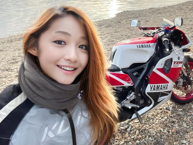 fake Japanese biker girl