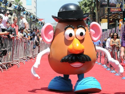 Mr. Potato Head arrives at the world premiere of Toy Story 3 on Sunday June 13, 2010 at The El Capitan Theater in Los Angeles. (AP Photo/Katy Winn)