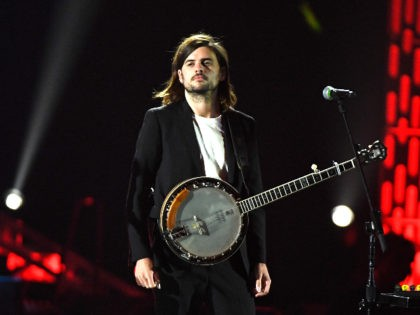 LAS VEGAS, NEVADA - SEPTEMBER 21: Winston Marshall of Mumford & Sons performs onstage during the 2019 iHeartRadio Music Festival at T-Mobile Arena on September 21, 2019 in Las Vegas, Nevada. (Photo by Ethan Miller/Getty Images)