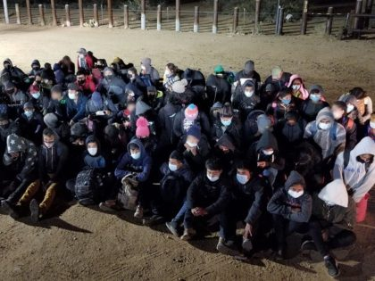 Tucson Sector Border Patrol agents apprehend at least 80 unaccompanied minors in a group of 130 migrants. (Photo: U.S. Border Patrol/Tucson Sector)