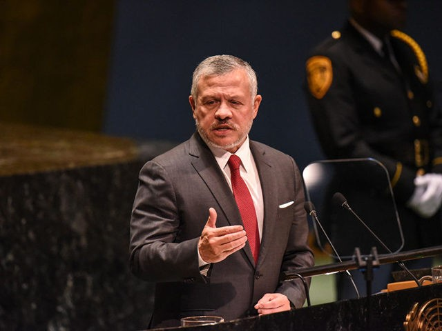 NEW YORK, NY - SEPTEMBER 24: King Abdullah II bin Al Hussein of Jordan speaks at the United Nations (U.N.) General Assembly on September 24, 2019 in New York City. World leaders are gathered for the 74th session of the UN amid a warning by Secretary-General Antonio Guterres in his …