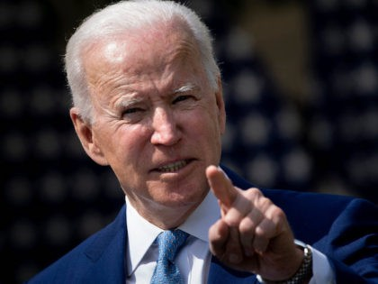 "US President Joe Biden speaks from the Rose Garden of the White House about gun violence on April 8, 2021, in Washington, DC. - Biden on Thursday called US gun violence an ""epidemic"" at a White House ceremony to unveil new attempts to get the problem under control. (Brendan Smialowski/AFP …"