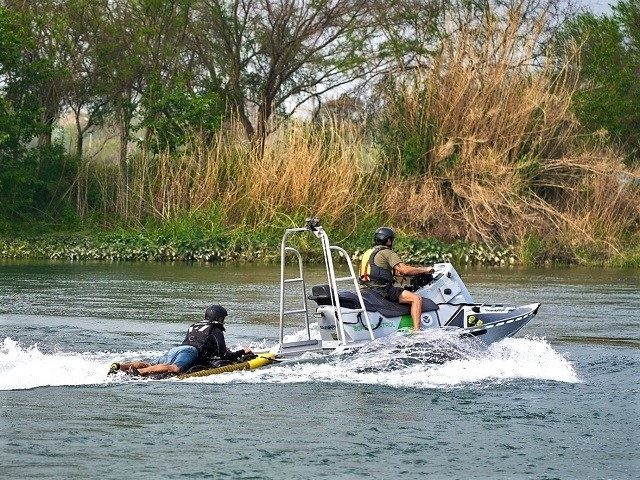 Del Rio Sector Border Patrol agents test a new migrant rescue watercraft on the Rio Grande. (Photo: U.S. Border Patrol/Del Rio Sector)