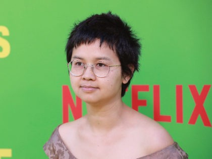 "Charlyne Yi arrives at the premiere of ""Always Be My Maybe"" on Wednesday, May 22, 2019, at the Regency Village Theatre in Los Angeles. (Photo by Mark Von Holden/Invision/AP)"