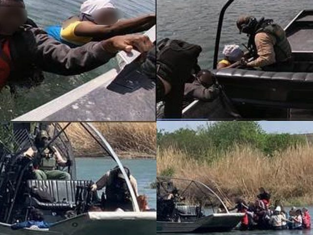 Del Rio Sector marine unit agents rescued a migrant family from the Rio Grande. (Photos: U.S. Border Patrol/Del Rio Sector)