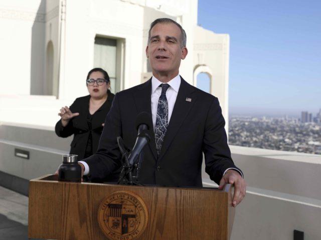 Eric Garcetti (Gary Coronado / Los Angeles Times via Associated Press, Pool)
