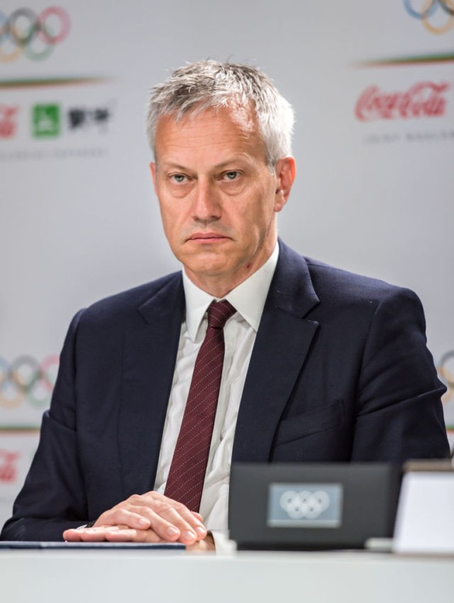 LAUSANNE, SWITZERLAND - JUNE 24: James Quincey, President and CEO of Coca-Cola looks on during an IOC Announcement at the SwissTech Convention Center on June 24, 2019 in Lausanne, Switzerland. (Photo by Robert Hradil/Getty Images)