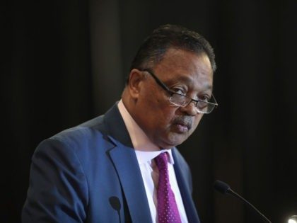 CHICAGO, ILLINOIS - JULY 01: Rev. Jesse Jackson speaks at the Rainbow PUSH Coalition Annual International Convention on July 1, 2019 in Chicago, Illinois. Jackson is the founder of Rainbow PUSH. (Photo by Scott Olson/Getty Images)