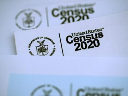 SAN ANSELMO, CALIFORNIA - MARCH 19: The U.S. Census logo appears on census materials received in the mail with an invitation to fill out census information online on March 19, 2020 in San Anselmo, California. The U.S. Census Bureau announced that it has suspended census field operations for the next …