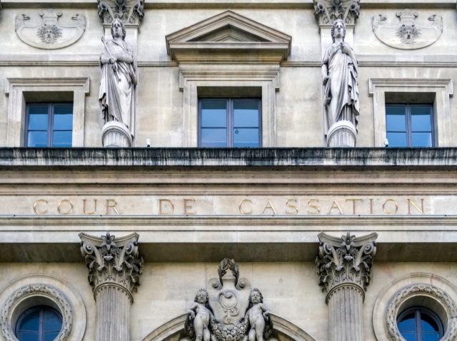 Paris, France: Official building of Cour de Cassation (Court of Cassation) in Paris - France