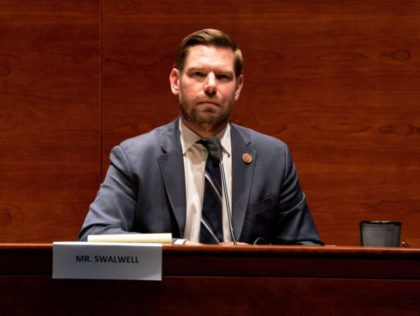 WASHINGTON, DC - JUNE 24: U.S. Rep. Eric Swalwell (D-CA) attends a hearing of the House Judiciary Committee on at the Capitol Building June 24, 2020 in Washington, DC. Democrats are highlighting what they say is the improper politicization of Attorney General Bill Barr's Justice Department. (Photo by Anna Moneymaker-Pool/Getty …