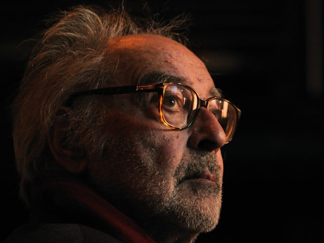 "Swiss French New Wave director Jean-Luc Godard Godard looks on prior to receive the ""Grand Prix Design"" during the Swiss Federal Design Awards 2010 award ceremony on November 30, 2010 in Zurich. Godard who received an Oscar for his life's cinematic achievements last November 14, 2010 will mark his 80th …"