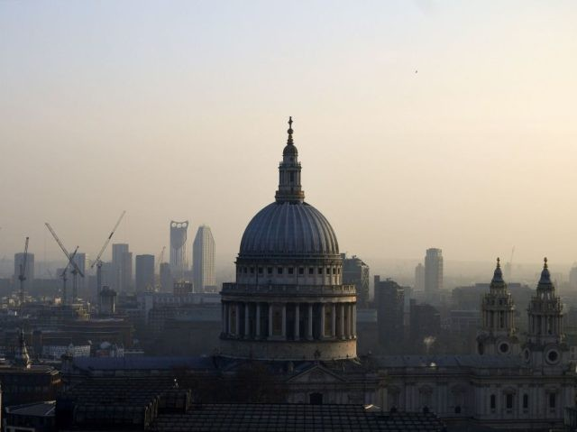The dome of St Paul's Cathedral is pictured in the early evening light in the City of London on March 2, 2021. (Photo by JUSTIN TALLIS / AFP) (Photo by JUSTIN TALLIS/AFP via Getty Images)