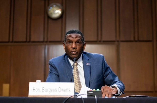 WASHINGTON, DC - APRIL 20: Rep. Burgess Owens (R-UT) speaks during a Senate Judiciary Committee hearing on Capitol Hill April 20, 2021 in Washington, DC. The committee is hearing testimony on voting rights in the U.S. (Photo by Bill Clark-Pool/Getty Images)