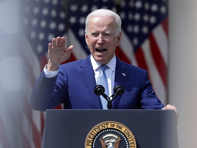 WASHINGTON, DC - APRIL 08: U.S. President Joe Biden speaks during an event on gun control in the Rose Garden at the White House April 8, 2021 in Washington, DC. Biden will sign executive orders to prevent gun violence and announced his pick of David Chipman to head the Bureau …