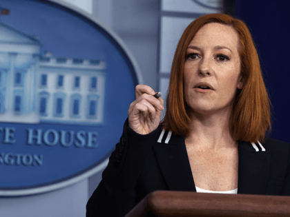 White House Press Secretary Jen Psaki speaks during a daily press briefing at the James Brady Press Briefing Room of the White House on April 21, 2021 in Washington, DC. Psaki held the daily briefing to answer questions from members of the press. (Photo by Alex Wong/Getty Images)