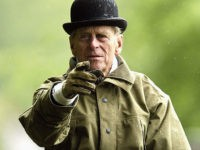 WINDSOR, ENGLAND - MAY 16: HRH The Duke of Edinburgh at the dressage event of the International Grand Prix in the Royal Windsor Horse Show on May 16, 2003 at Home Park, Windsor Castle, Windsor, England. (Photo by Warren Little/Getty Images)