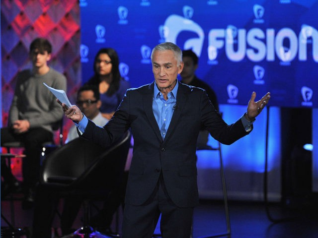 DES MOINES, IA - JANUARY 11: Journalist Jorge Ramos pictured onstage during the FUSION presents the Brown & Black Democratic Forum at Drake University on January 11, 2016 in Des Moines, Iowa. (Photo by Fernando Leon/Getty Images for Fusion)